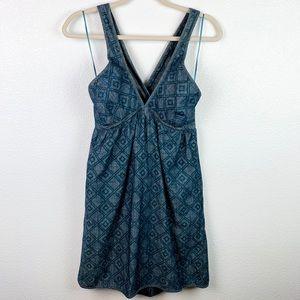 7 FOR ALL MANKIND Denim Cross back Midi Dress | M